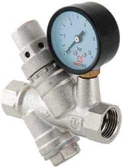 Редуктор давления Valtec 1/2, ВР, с манометром и фильтром - фото 30336