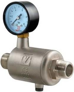 Редуктор давления Valtec 1/2, НР, линейный, с манометром - фото 30337