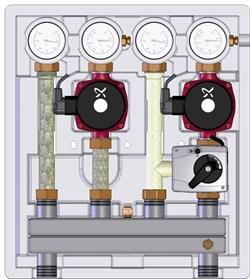 Насосно-смесительный модуль Meibes Kombimix 2 UK_UPSO 15-65 (ME 26103.40) - фото 34968