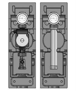 Насосная группа Meibes V-UK без смесителя, с насосом UPS 32-60 1 1/4 (ME 66814.40) - фото 34992