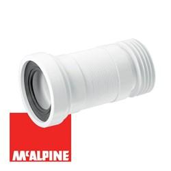Гофра для унитаза McALPINE Ф90/110, длина 230-440мм (WC-F23R) - фото 36646