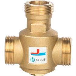 Термостатический смесительный клапан Stout G 1 1/4 НР, 60С - фото 55168