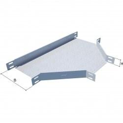 Т-образный отвод для перферированого листового лотка KM-Profil, TD50*50 - фото 57054