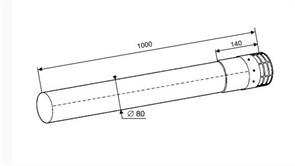 Protherm Труба раздельная с корзинкой 80 мм - 1 м