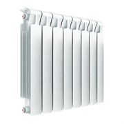 Радиатор биметаллический RIFAR MONOLIT VENTIL 350,  нижнее подключение, левое, 4 секции