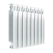 Радиатор биметаллический RIFAR MONOLIT VENTIL 350,  нижнее подключение, левое, 9 секций