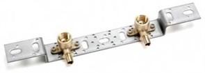 Монтажный блок для скрытого монтажа (короткий кронштейн, 2 водорозетки) Rehau 75/150
