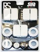 Монтажный комплект для подключения радиатора Sira RS, размер 3/4