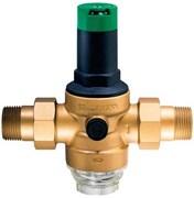 """Редуктор давления воды Honeywell 1 1/4"""", с фильтром для холодной воды, под аксиальный манометр"""