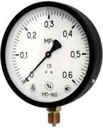Манометр радиальный ЗТП Минск, размер 1/2, ф 160 мм, 0-16 бар