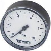 Манометр аксиальный Watts, размер 1/4, ф 50 мм, 0-10 бар