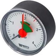 "Манометр аксиальный Watts с указателем предела, размер 3/8"", ф 63 мм, 0-4 бар"