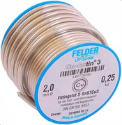 Мягкий припой Felder Cu-Rotin 3, 250 гр, диаметр 2 мм