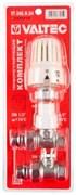 """Комплект терморегулирующий Valtec 1/2"""" Вр-Нр прямой, радиаторный, в блистере"""