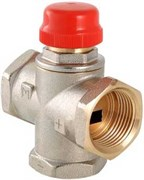 Смеситель термостатический Valtec 1 Вр трехходовой, тип VT.MR01, Kvs 3.3, смешение боковое с нерегул  байпасом