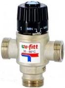 Клапан термостатический трехходовой Uni-Fitt 1 Вр, Kvs 1.6, смешение боковое