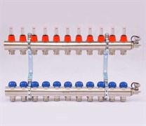 Коллектор для теплого пола Uni-Fitt, латунный, 11 вых