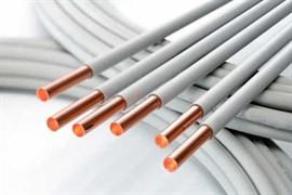 Труба медная Silmet PVC отожженная в пластике (в бухтах) 12 x 1.0