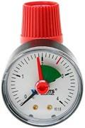 Клапан предохранительный с манометром Watts SVM  25 х 1/2, (2.5 бар)