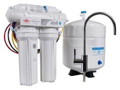 Система очитки воды ATOLL 4-х ступенчатая с обратным осмосом и баком (A-460E lux)