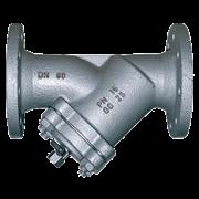 Фильтр сетчатый фланцевый Danfoss Y333P чугун с краном для слива Ду 40 Ру16 (149B3280)
