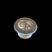 Выпуск для сифона Орио 1 1/2 с нержавеющей решеткой D=70мм (A-4004-02)