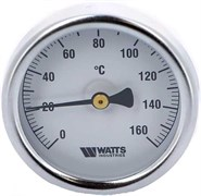 Термометр биметаллический Watts ф 63 мм, гильза 50 мм, t 160 град.