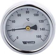 Термометр биметаллический Watts ф 63 мм, гильза 75 мм, t 160 град.