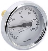 Термометр биметаллический Emmeti ф 63 мм, гильза 50 мм, t 120 град.