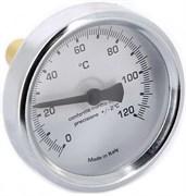 Термометр биметаллический Emmeti ф 80 мм, гильза 100 мм, t 120 град.