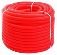 Гофра для трубы ф16-20 (размер гофры ф25) Uni-Fitt красная, бухта 100 м.