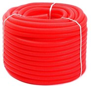 Гофра для трубы ф20 (размер гофры ф28) Uni-Fitt красная, бухта 50 м.