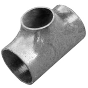 Тройник стальной оцинкованный переходной Дн 76x3,5-45х2,5 (Ду 65х40) бесшовный ГОСТ 17376-2001