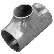 Тройник стальной оцинкованный переходной Дн 89х3,5-76х3,5 (Ду 80х65) бесшовный ГОСТ 17376-2001