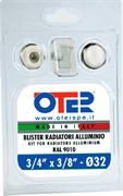 """Монтажный комплект для радиатора отопления Oter 3/4"""", без кронштейнов"""