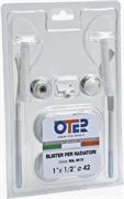 """Монтажный комплект для радиатора отопления Oter 1/2"""", с двумя кронштейнами"""