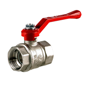 Кран шаровый Галлоп Стандарт 220 никель Ду 25 ВР/ВР (ручка)