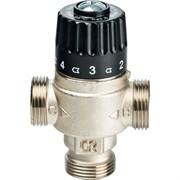 Термостатический смесительный клапан Stout для систем отопления и ГВС 3/4 НР, 30-65С, Kvs 1.8, центральное смешивание