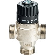 Термостатический смесительный клапан Stout для систем отопления и ГВС 1 НР, 30-65С, Kvs 2.3, центральное смешивание