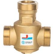 Термостатический смесительный клапан Stout G 1 1/4 НР, 55С