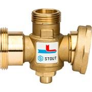 Термостатический смесительный клапан Stout G 1 1/2M-G 1 1/2F-G 1 M, 70С
