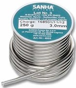 Мягкий припой Sanha, сплав S-Sn97Cu3, ф 3 мм, 250 гр