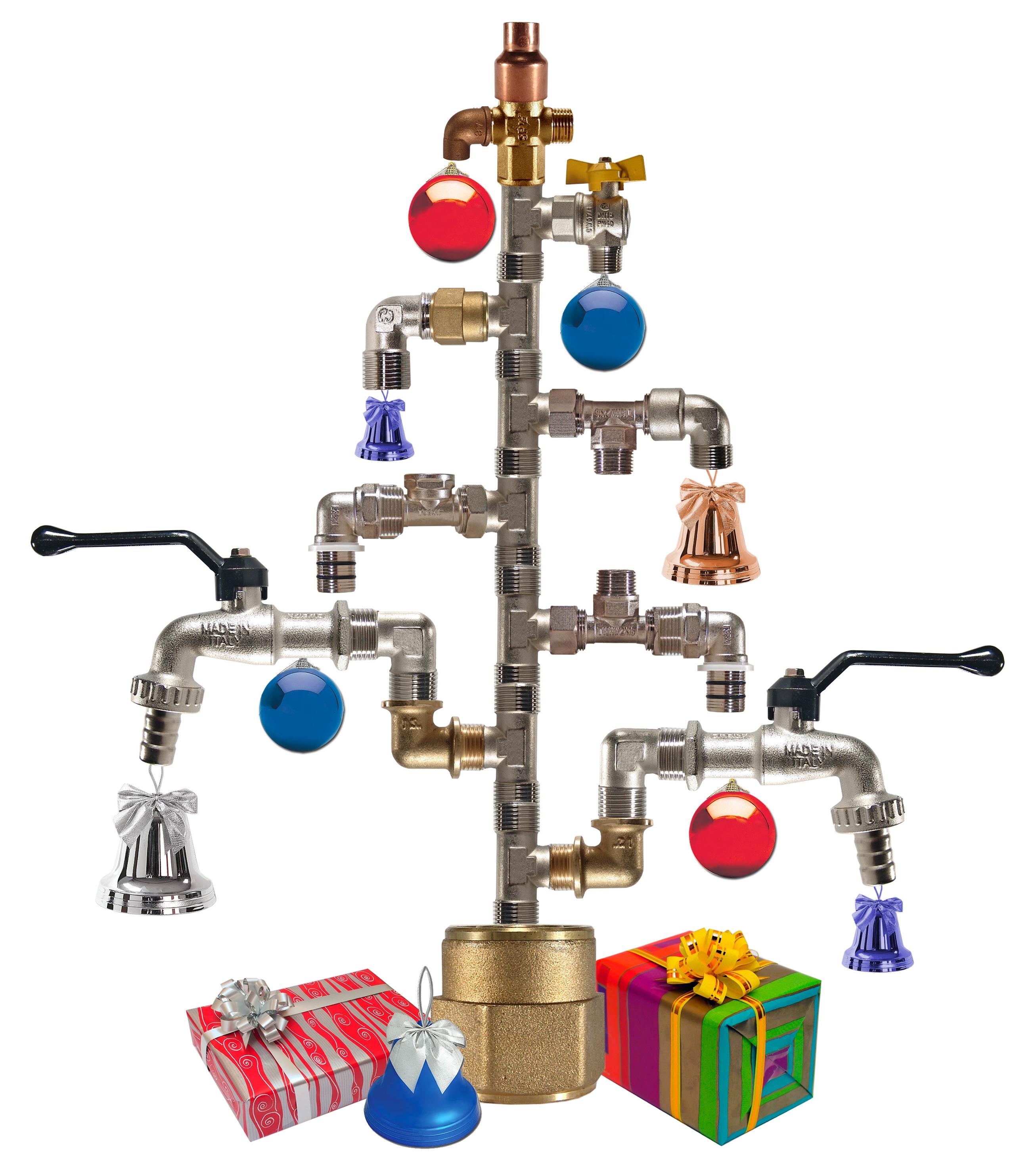 Новогоднее поздравление сантехнику