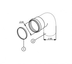 Protherm Колено 90°, ф 80 мм - фото 21626