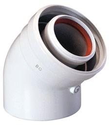 Baxi Отвод 45° коаксиальный ф 60/100 мм, KHG 714101610 - фото 21645