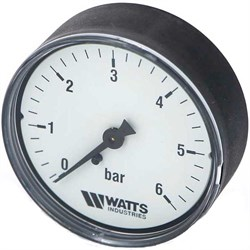 "Манометр аксиальный Watts, размер 1/4"", ф 63 мм, 0-6 бар - фото 30751"