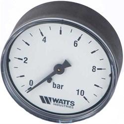 "Манометр аксиальный Watts, размер 1/4"", ф 50 мм, 0-10 бар - фото 30788"