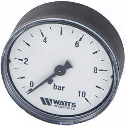 "Манометр аксиальный Watts, размер 1/4"", ф 63 мм, 0-10 бар - фото 30797"