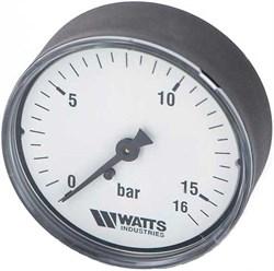 "Манометр аксиальный Watts, размер 1/4"", ф 50 мм, 0-16 бар - фото 30835"