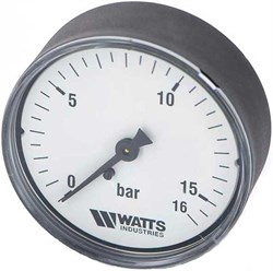 "Манометр аксиальный Watts, размер 1/4"", ф 63 мм, 0-16 бар - фото 30839"